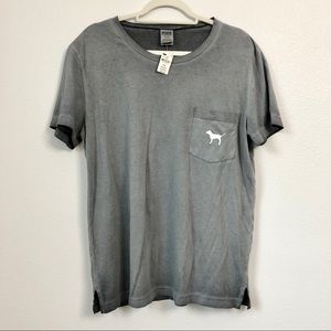 VS pink oversized grey T-shirt